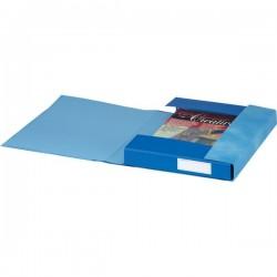 Gruppi 6 cartelle Essentials Esselte - 3 lembi - 25x32x4 cm - blu