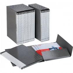 Gruppi di 6 cartelle Delso Line Esselte - Dorso 1,5 - 25x32 cm - bianco/grigio
