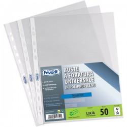 Buste a foratura universale Liscio Super Clear Favorit -Linear 22x30cm - bianco (conf.50)