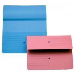 Cartelline canguro 4company - blu 32,5x25,5 cm woodstock 225 g/mq (conf.10)