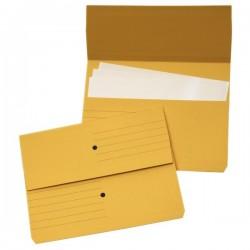Cartelline canguro 4company - giallo 32,5x25,5 cm woodstock 225 g/mq (conf.10)