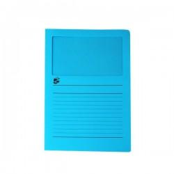 Cartelle colorate con finestra 5 Star - azzurro (conf.50)