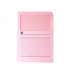 Cartelle colorate con finestra 5 Star - rosa (conf.50)