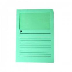 Cartelle colorate con finestra 5 Star - verde (conf.50)