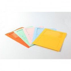 Cartelle colorate con finestra 5 Star - arancio (conf.50)
