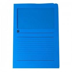 Cartelle Colorate Con Finestra 5 Star - Tinte Forti - Blu Scuro (Conf.50)