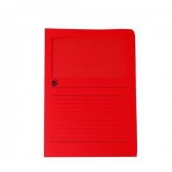 Cartelle Colorate Con Finestra 5 Star - Tinte Forti - Rosso (Conf.50)