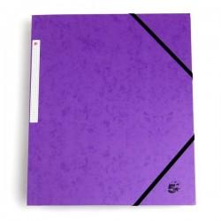 Cartelline con elastico a 3 lembi viola 580526 5 Star (conf.10)
