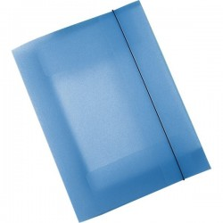 Cartelle 3 lembi in ppl Leonardi - blu trasparente (conf.10)