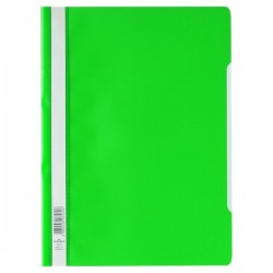 Cartellina ad aghi Clear View Durable - A4 PPL - verde (conf.50)