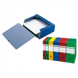 Cartelle portaprogetti Spazio Sei Rota - Dorso 6 - 25x35 cm - blu