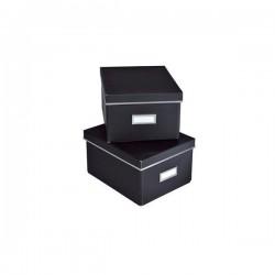 Scatole archivio nere - piccole (conf. 2 pezzi)