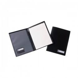 Cartellina portablocco Black Tie Tecnostyl - A4 - nero