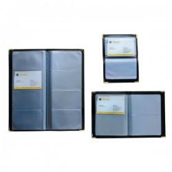 Portabiglietti da visita tascabili Tecnostyl - 96 posti - 11,5x25 cm