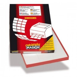 Etichette adesive Markin - 210x148,5 mm - Nr. etichette / foglio 2 (conf.100)