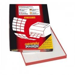 Etichette adesive Markin - 105x48 mm - Nr. etichette / foglio 12 (conf.100)