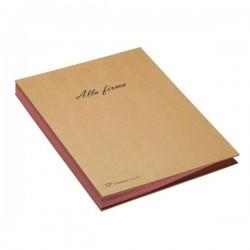 Libro firma 18 intercalari riciclabile Fraschini - 22x34 cm - avana