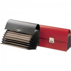 Cartella portavalori Fraschini - rosso - 12 tasche