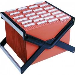 Archivio portatile LuXor Bertesi - Completo di 10 cartelle Avana, interasse 39 cm