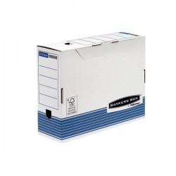 Contenitore Archivio A4 Dorso 10 cm Bankers Box System Fellowes - A4 - 31,5x10x26 cm (Conf.10)