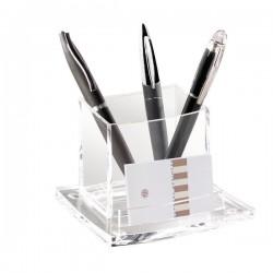Bicchiere portapenne Acrylight CEP - trasparente - 11,5x10,5x8,3 cm