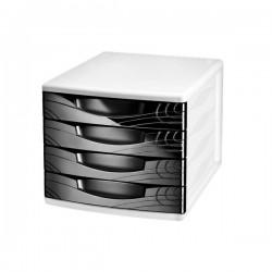 Cassettiera Origins Cep - Nero - 30x36,8x26,5 cm