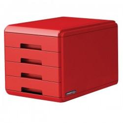 """Cassettiera """"Rosso Italia Collection"""" Arda - rosso - 29,5x38,5x28,2 cm"""