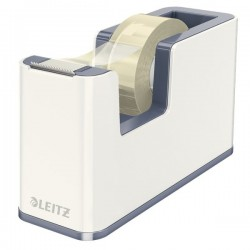 Dispenser per nastro adesivo WOW Dual Color Leitz - 5,1x12,6x7,6 cm - bianco metellizzato
