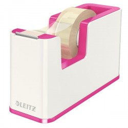 Dispenser per nastro adesivo WOW Dual Color Leitz - 5,1x12,6x7,6 cm - fucsia metallizzato