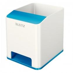 Portapenne WOW Dual Color Leitz - 9x10,1x10 cm - blu metallizzato