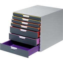 Cassettiere Da Scrivania Varicolor® Durable - Grigio E Multicolore - 7 - 2,5 / 5 cm