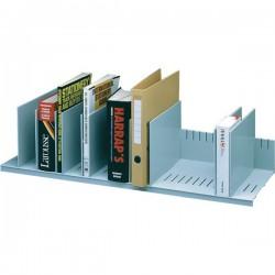 Sistema multiblocco Paperflow - Reggilibri con separatori regolabili - grigio