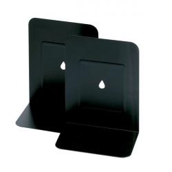 Reggilibri in metallo Lebez - nero (conf.2)