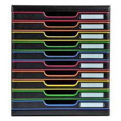 Cassettiere Modulo A4 Exacompta - 10 - nero/arlecchino - nero/arlecchino - 2,6 cm - 2,6 cm