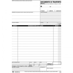 Blocco documenti di trasporto Semper Multiservice - carta chimica 4 parti - 25x4 - 148x215 mm