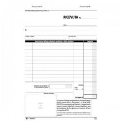 Blocco ricevute sanitarie numerate Semper Multiservice - Carta chimica 2 parti - 148x215 mm