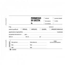 Blocco permessi d'uscita Semper Multiservice - Carta chimica 2 parti - 100x168 mm