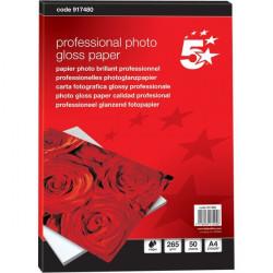 Carta fotografica 5 Star - Professionale Glossy - A4 - 265 g/mq (conf.50)