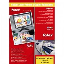 Film adesivo per stampanti e copiatrici Folex - A4 - bianco opaco (conf.50)