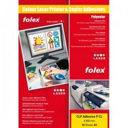 Film adesivo per stampanti Folex - A4 - bianco lucido (conf.50)
