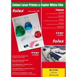 Film per stampanti laser e copiatrici Folex - bianco lucido - 125 my (conf.50)