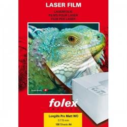 Film per stampanti laser e copiatrici Folex - bianco mattato - 140 my (conf.100)