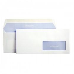 Buste Bianche comm.li 5 Star - gommata - 11x23 cm - 90 g/mq - con finestra (conf.500)