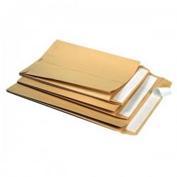 Buste a sacco avana con soffietti 2 lati strip 5 Star - 25+4x35,3 cm - 120 g/mq (conf.250)