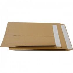 Buste a sacco avana con soffietti Pigna - soffietti su 2 lati - 23x33 cm - 100 g/mq (conf.250)