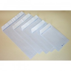 Buste a sacco con strip Pigna - bianco - 16x23 cm - 80 g/mq - strip (conf.20)