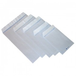 Buste a sacco con strip Pigna - bianco - 19x26 cm - 80 g/mq - strip (conf.20)