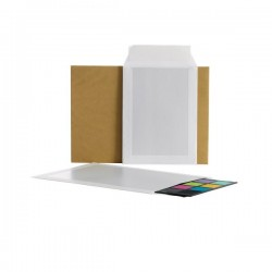 Buste con retro in cartone Bong - 25x35,3 cm - bianco (conf.100)