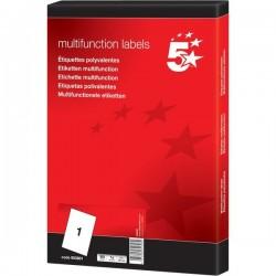 Etichette bianche multiuso 5 Star - 63,5x38,1mm - 21 et/ff (conf.100)