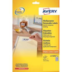 Etichette rimovibili Avery - 199,6x143,5 mm - arrotondati - 2 (conf.25)